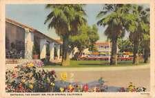 Palm Springs California view of The Desert Inn entrance antique pc Z17849
