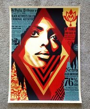 Shepard Fairey Bias By Numbers Signed Art Print Poster Obey Giant Limited