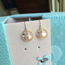 Fashion 100% Baroque freshwater pearl 14K Gold Filled earrings Original works