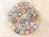 Studio Glass Paperweight - Peter McDougall - Closepack Millefiori - Sig. Cane