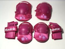 Razor Sweetpea Multi Sport Elbow Knee Pads Wrist Guards Pink Youth Medium Ages 8