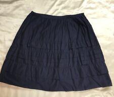 GAP Skirt Size 10 Navy Blue Boho Prairie A Line