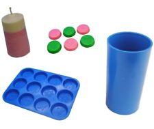 Set x 2, Christmas Design Wax Melt Tart Tray & Pillar Candle Mould. S7722