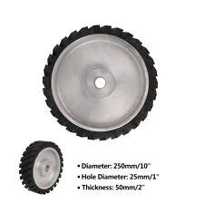 "10 Inch Rubber Serrated Belt Grinder Polishing Contact Wheel 1"" Hole 250x25x50mm"