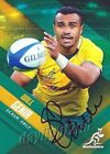 ✺Signed✺ 2017 WALLABIES Rugby Union Card WILL GENIA