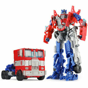 TRANSPARENT Transformers Optimus Prime G1 Reissue Robot Christmas Gift Kids