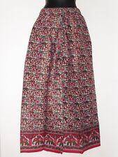 Hippy Boho Pierna Ancha Indio Elefante Estampado Floral Algodón Pantalones hechos
