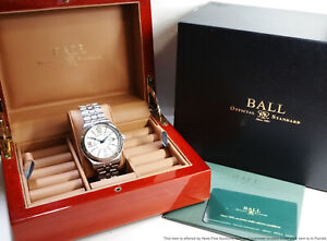 Brand New Ball GM1050D Trainmaster Voyager GMT White Dial Watch Retail $1999