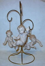 Very Rare Lladro Three Cherub Ornament Tree in Glossy Finish with Original Boxes