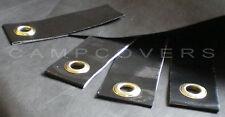 4 HD black E Z grommet tabs for Tarps, Tyvek & Cuben Fiber sheets