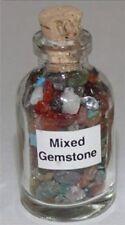 Mixed Gemstone Chip New Bottle Healing Reiki Wicca 8 Bottles