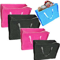 Reusable Shopping Bags Zip Fold Away LARGE Laundry Storage Grocery Clothes Toys