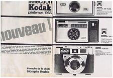 PUBLICITE ADVERTISING 054 1965 KODAK instamatic 100 220 reinette IB (2pages)