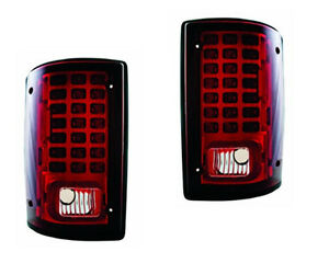 1995-2005 Ford Econoline/2001-2005 Excursion LED Tail Light Pair Ruby Red