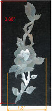 PH83# Rose Inlay in White Mother of Pearl 1.5mm thickness