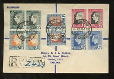 SOUTH AFRICA 1937 CORONATION KG6 SET in PAIRS on ONE PRESENTATION COVER CAPETOWN
