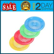 Paper Plate Holders Reusable Plastic 10 Inch Plates 4 Assorted Colors Set of 12