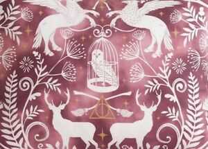 Pottery Barn Teen Harry Potter Patronus Damask King Duvet Cover, Burgundy