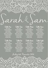 A3 lace border wedding table / seating plan  A2 ALSO AVAILABLE
