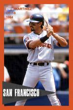Dave Martinez - 1994 San Francisco Giants - choose a size - full color print