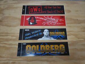 1998 WCW nWo Vintage Bumper stickers Sting Wolfpac Wolfpack Goldberg