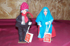 "Handmade Irish Dolls Donegal Man Kerry Woman Doll Ireland 5"" Display Character 6"