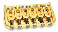 "Hipshot 41060G 6-String Hardtail Fixed Electric Guitar Bridge .125"" - GOLD"
