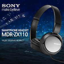 Sony MDR-ZX110 BC Stereo Headphones Foldable High Quality sound-Black/ Genuine