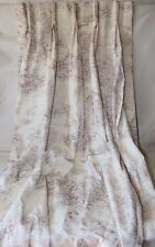 Curtains Cabbages and Roses Toile De Poulet Red Cream Pleated