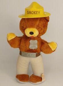 Original Smokey The Bear  Vintage Plush Stuffed IDEAL WORKS USA Doll 1960s