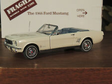 Danbury Mint 1966 Ford Mustang Convertible White With Box 1/24 Scale Diecast