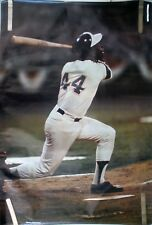 RARE HANK AARON BRAVES 1973 VINTAGE ORIGINAL SPORTS ILLUSTRATED SI POSTER