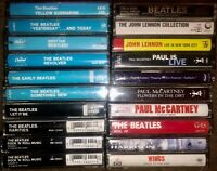 LOT OF 20 THE BEATLES CASSETTE TAPES JOHN LENNON PAUL McCARTHY GEORGE HARRISON