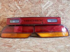 JDM NISSAN 180SX S13 3PIECE TAIL LIGHT SET WITH GARNISH RARE ITEM OEM