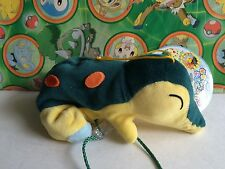 Pokemon Plush Laying Cyndaquil Shoulder Buddy 2000 Bean Bag stuffed doll figure