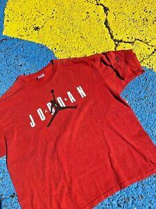 Vintage 80s 90s Nike Air Jordan Logo Graphic Shirt USA nba Basketball XL (44-46)
