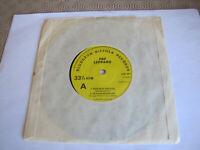 "1977 Def Leppard Ride Into The Sun - Bludgeon Riffola Records 7 "" Vinyl"