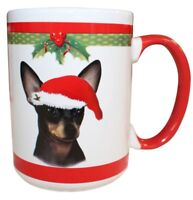 Chihuahua Black Christmas Coffee Mug 15 oz E&S Pets Dog Puppy Tea Cup Holiday