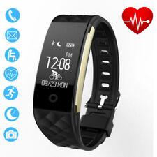S2 IP67 Impermeable Bluetooth Podómetro Smart Band GPS por Android IOS Negro