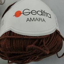 (89 €/kg): 400 Gramm Gedifra AMARA mit Glanzfaden, Fb.3712 braun #1688
