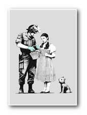 """BANKSY Stop & Search QUALITY A4 CANVAS PRINT 8""""X 12"""" poster wizard of Oz"""