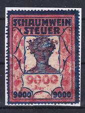 Ö - Schaumweinsteuer Stempelmarke 9000 K ANSEHEN und LESEN