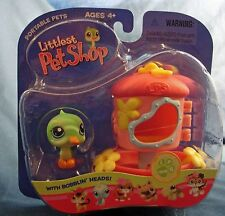 Littlest Pet Shop 208 bobblin' head green humming bird with feeder new in pack