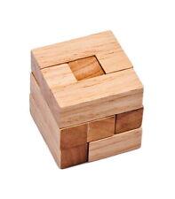 Wooden Intelligence Game 3D Wood IQ Puzzle Brain Teaser Tetris Cube 7 pc