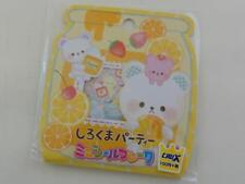 Crux Honey Bear Flake Sack Sticker Fruit Orange Kiwi Fruit cute healthy planner