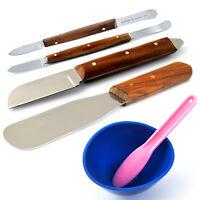 Dental Plaster Alginate Spatula Knives Fahen Stock Knife Mixing Spatula Bowl Lab