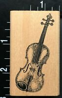 VIOLIN MUSICAL ORCHESTRA INSTRUMENT Judikins Wood Mounted Rubber Stamp