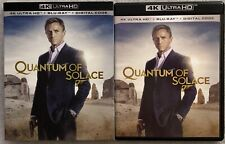 JAMES BOND 007 QUANTUM OF SOLACE 4K ULTRA HD BLU RAY 2 DISC + SLIPCOVER SLEEVE