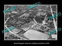 OLD LARGE HISTORIC PHOTO BRISTOL ENGLAND AERIEL VIEW KINGSWOOD DISTRICT c1950 1