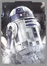 Star Wars Last Jedi 2017 SILVER CHARACTER PORTRAIT Insert Card CP-8 R2-D2 52/99